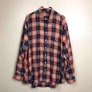Burberry London Plaid Button Down Shirt XL P573